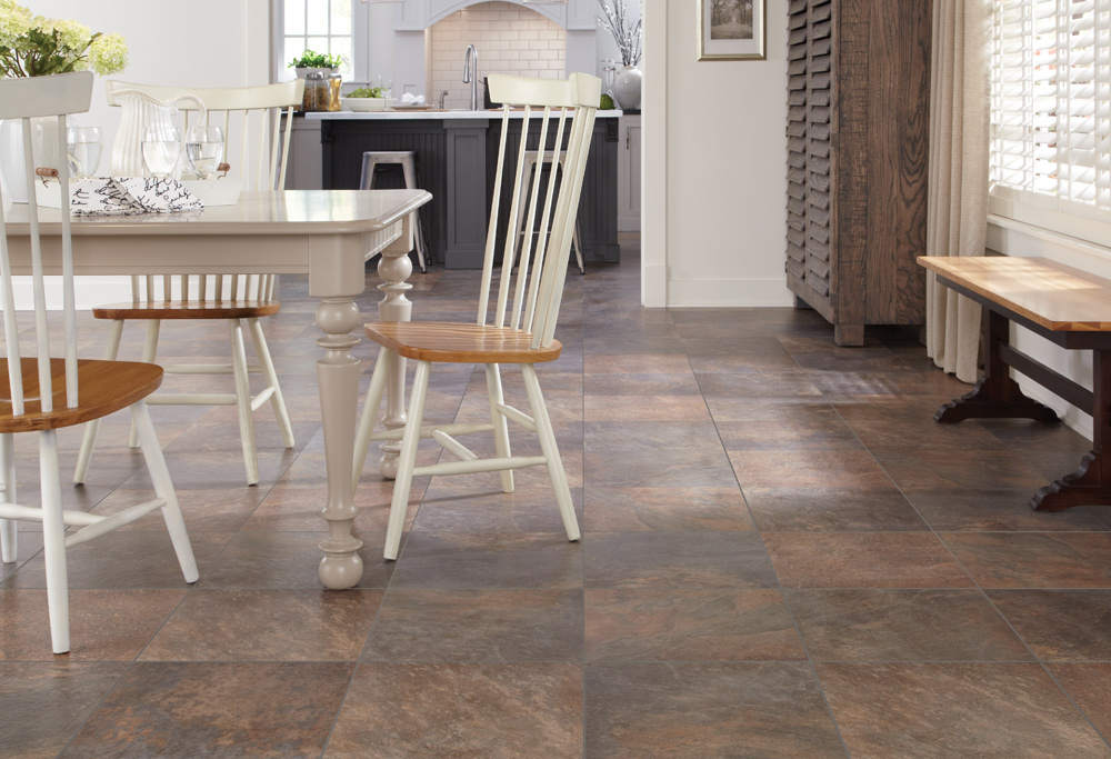 Laminate Flooring Offers The Beautiful Look Of Porcelain Tile And