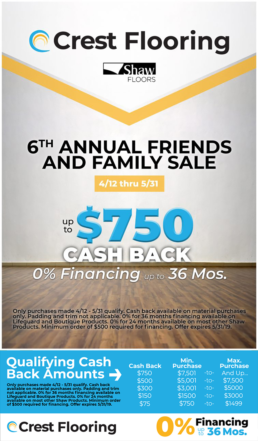 6th Annual Friends and Family Sale. Click here for your coupon